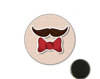Mustache Magnet 25 mm Butterfly magnet