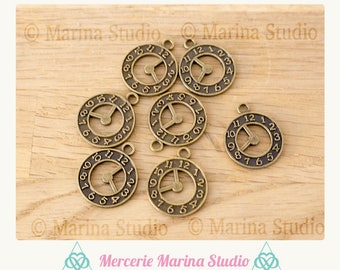 4 sided 21x18mm restaurant bronze watch charms
