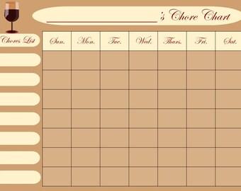 chore calendar for adults