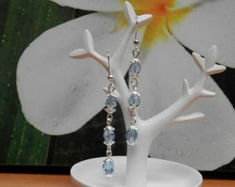 the beautiful transparent (earrings plated silver)