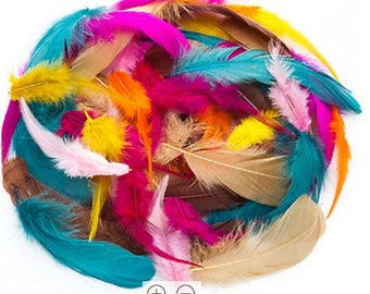 "Gorgeous genuine feathers, colorful ""Boho"""