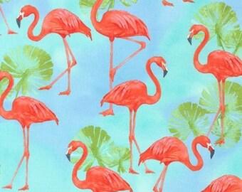 Flamingo Paradise from Robert Kaufman 15422-246 Water