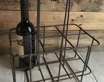 Vintage industrial metal shop PlumeDubois bottle holder