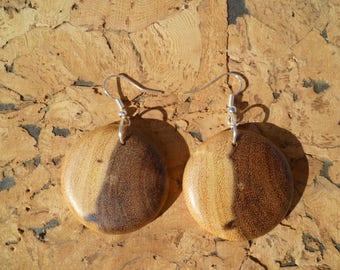 Earrings in acacia African boaca1