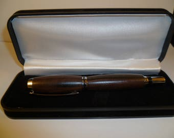 fountain pen with wooden ebeine macassar wood
