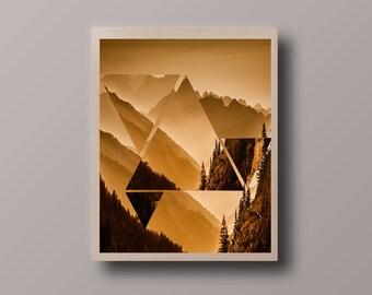 Abstract Scandinavian Print, Hipster Print, Minimalist Print, Abstract Polygon Print, Abstract Landscape Print