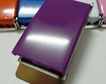 Purple metal belt 25 mm loops