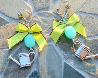 "Watering cans ""gardening"" earrings"