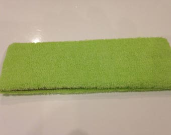 Headband lime green sponge width 6 cm