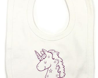 "Personalized with child's name ""Unicorn"" bib"
