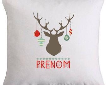 "Cushion edition personalized custom Christmas ""deer head"""