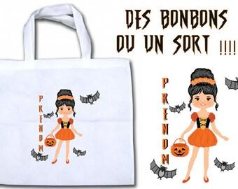 "Custom ""miss pumpkin"" candy bag"