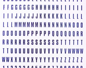 Adhesive stickers - ALPHABET white 15mm - x220pcs