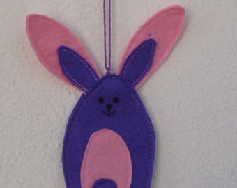 Purple and pink felt Bunny