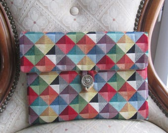 "Cover for ""ipad"" multicolored upholstery fabric"