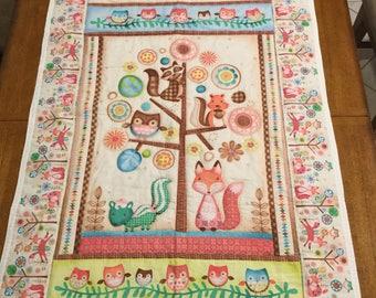 Forest animal blanket