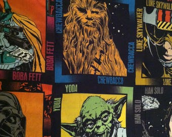 Star Wars Characters (large) fabric by the half yard