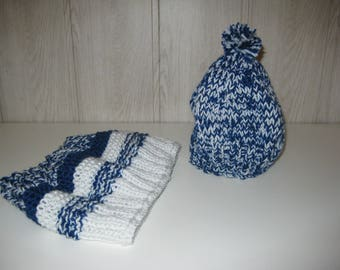 neck and Cap wool snood for children