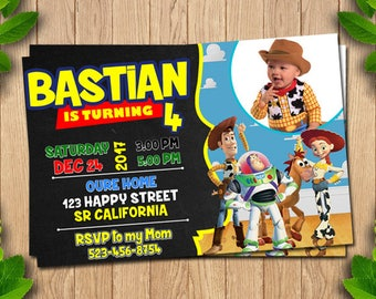 Toy Story Party, Toy Story Birthday, Toy Story Printable Birthday Invitation,