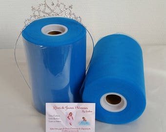 Blue tulle roll, blue Cinderella, high quality for making dresses and skirts, tutu, Princess and ceremony