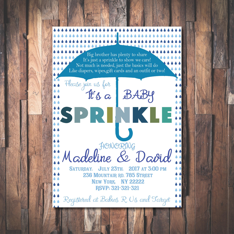 Baby Sprinkle Invitation, Umbrella invitations, Baby Shower ...