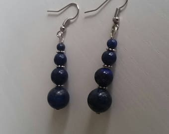 Earrings with Lapis Lazuli (4 to 10 mm beads)