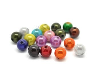 magical 10mm 20 beads Mix Lot M02212 miracle acrylic