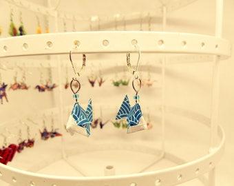 Origami fish earrings