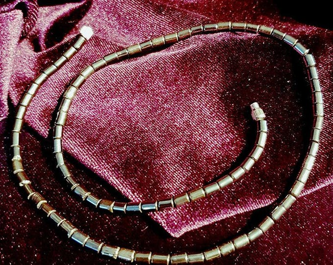Hematite choker - hematite hematiet choker gemstone necklace boho gothic witch pagan wicca