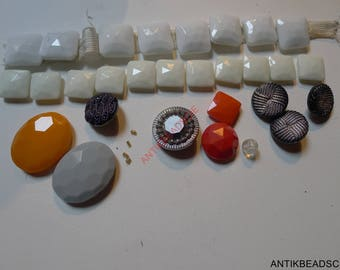 set antique beads