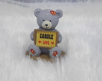 Teddy bear personalized by Carole