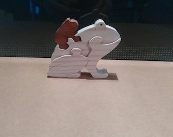 Decorative mini-Puzzle: Cat 4: frog