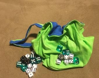 "7"" Reversible Drawstring Bag - Lined"
