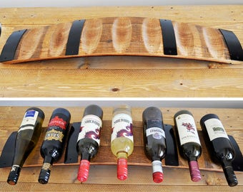 Barrel Stave Wine Rack, 7-bottle