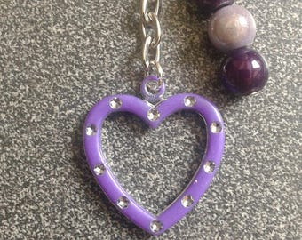 PROMO * bags purple heart jewel