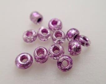 3.31 / beads rockery Metallic Fuchsia Purple 2mm 40gr