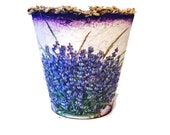 Flower pots lavender  garden decor home decor  handpainted  centerpiece table decor gift for her, gift for mother, for wife, for girlfriend