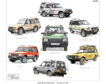 Land Rover Discovery - Fine Art Print (Camel Trophy 2nd 3rd Generation XS)
