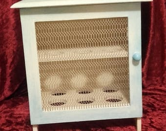 Mini cabinet storage shabby for eggs
