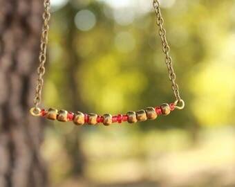 "Morse code ""Warrior"" necklace"