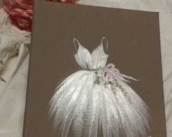 hand painted table tutu gently