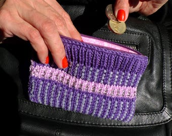 Knitted and Beaded Coin Purse Kits - Stripe