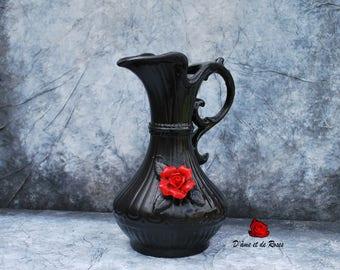 Vase 3 baroque to Rose Rouge