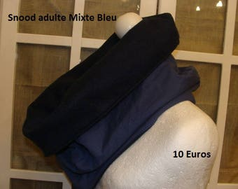 Snood neck adult blue mixed