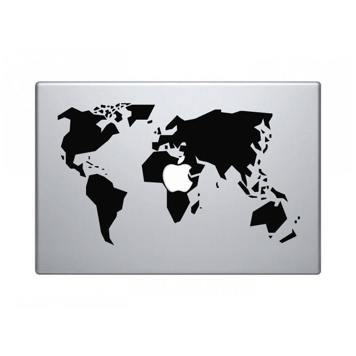 World map decal macbook imac gumiabroncs Choice Image