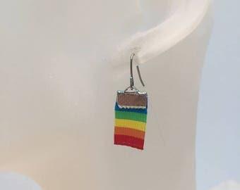 Rainbow Ribbon earrings