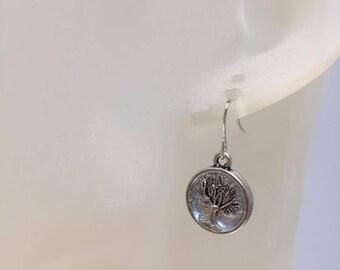 Tree of life charm earrings