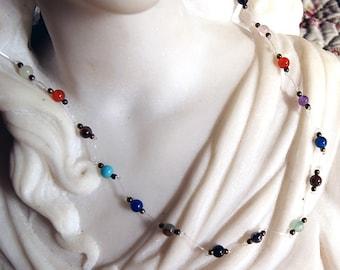 Necklace semi precious Gemstones