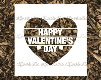 Happy Valentine's Day Papercutting Template for Personal or Commercial Use Download Cut File JPEG PNG
