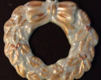 Decorative wreath advent hanging porcelain